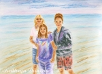 Mother and Daughters in Key West Florida