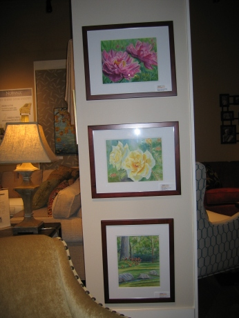 Original Watercolor Paintings by Kathryn Duncan at AAWA Esquire Interiors Art Exhibit June 2014 to August 2014.