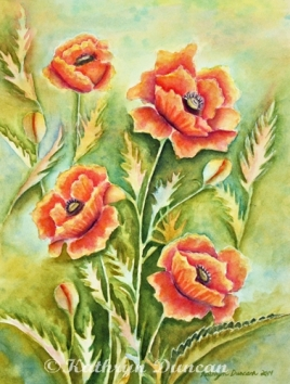 """Garden Party"" Poppies"
