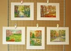 Watercolor Painting Landscape Prints