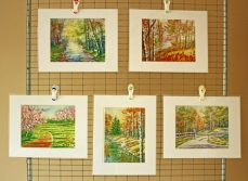 Watercolor Painting Landscape Prints