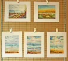 Watercolor Painting Seascape Prints