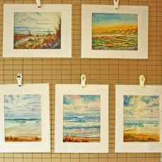 Watercolor Painting Seascape Prints