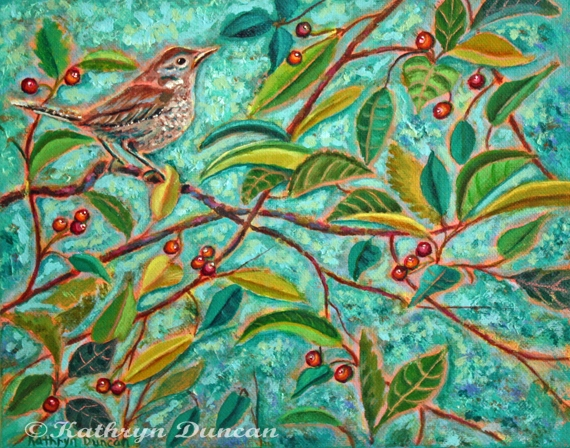 """""""Berry Delicious"""" House Finch"""