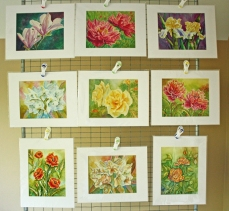 Watercolor Painting Floral Prints