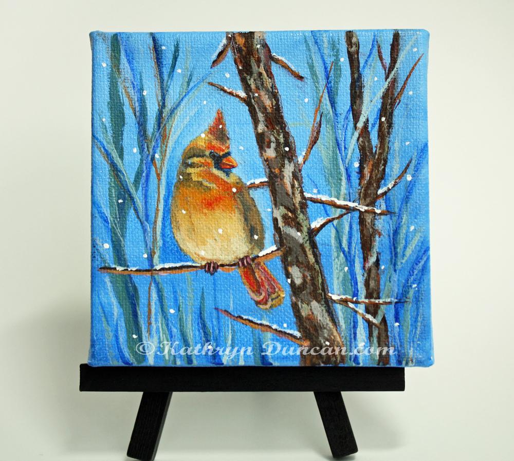Yellow Cardinal - Winter