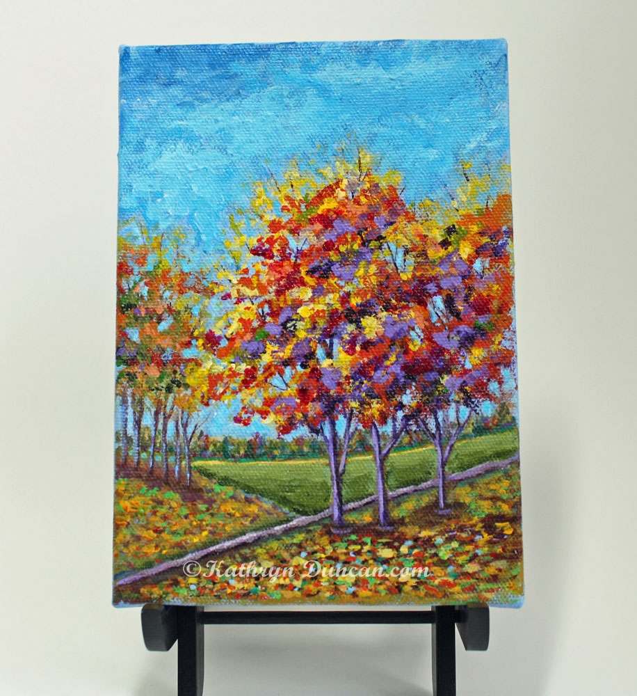 Autumn Trees Landscape